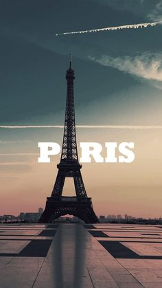 Paris Eiffel Tower Typography iPhone 6 Wallpaper