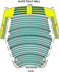 Seating chart at Alice Tully
