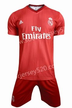 2018-19 Real Madrid 2nd Away Red Soccer Uniform Soccer Uniforms 01cc99e28
