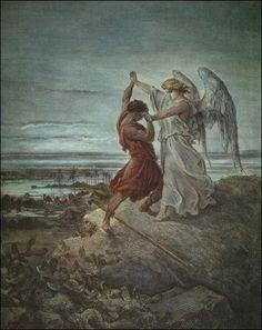 https://ru.wikipedia.org/wiki/Доре,_Гюстав «Иаков, сражающийся с ангелом» (1855)