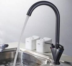 Theresa - Two Handle Rotating Kitchen Faucet Large Kitchen Sinks, Brass Kitchen Faucet, Old Kitchen, Kitchen Ideas, Water Faucet, Water Tap, Save Water, Crane Design, Ceramic Materials