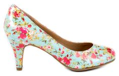 Wedding Shoes: Floral Heels