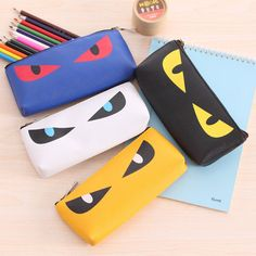 Cute Kawaii Cat Pencil Case Pu Leather Bag for Kids Student Gift Korean Stationery on AliExpress