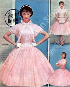 1950's (this etsy store offers a reproduction of the catalog featuring this dress and others)