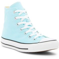Converse Chuck Taylor(R) All Star(R) Seasonal High Top Sneaker... ($45) ❤ liked on Polyvore featuring shoes, sneakers, poolside blue, summer sneakers, high top sneakers, converse sneakers, converse high tops and blue sneakers