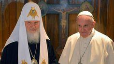 """Palabras de Agua y Luz: """"No somos competidores, sino hermanos"""" Declaración conjunta del Papa Francisco y del Patriarca Kiril"""