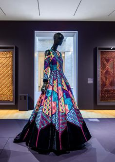 """Manish Malhotra, """"Woman's Dress"""" 2017. AKA the most amazing grown up version of the quilt dress in Seven Brides for Seven Brothers. So pretty!"""