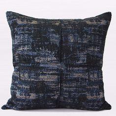 Blue Mix Color Metallic Chenille Pillow