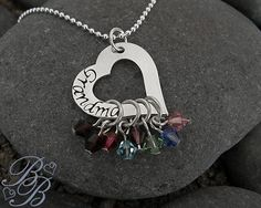 Personalized Mother's Necklace - Grandmother's Necklace - Handstamped Jewelry - Personalized Jewelry. $47.00, via Etsy.