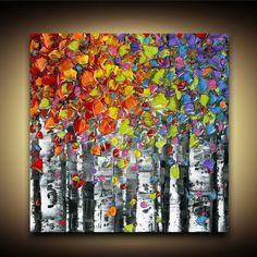 Zeitgenössische Kunst von Susanna von meiner ursprünglichen Platz Kunst Malerei - abstrakte Birken Wand Espe Kunstlandschaft Leinwand drucken. Bitte beachten Sie, dass dies ist ein Druck, kein Originalgemälde, so gibt es keine Textur. Originalgemälde finden Sie in meinem Shop. ** Bitte lesen Sie Versand Infos weiter unten, wenn Sie außerhalb der Vereinigten Staaten ansässig sind.  -Dieser Druck ist in verschiedenen Größen erhältlich, siehe Dropdown-Liste neben dem Schaltfläche Warenkorb…