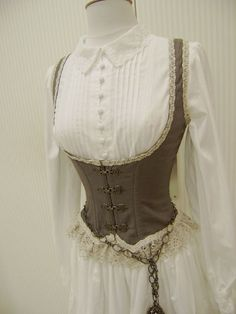 Corset- for my aristocratic explorer costume? Love this. :)