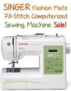 SINGER Fashion Mate 70-Stitch Computerized Sewing Machine Sale: $124.99 + Free shipping!