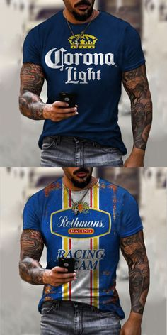 T shirts are a staple in any man's wardrobe, and we have a big range of t-shirts to keep you stocked up & in style! Shop the range now. #tshirt #shirts #men T Shirt Vest, Men Shirts, Men's Wardrobe, Stylus, Bruschetta, Fashion Men, Fashion Prints, Long Sleeve Shirts, Shop Now