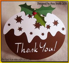 This is a silhouette studio cutting file for a Christmas Pudding shaped card…