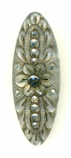 Oh my! Deluxe Large Antique Lacy Glass Spindle Button