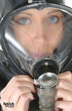 Rubber, Bondage, Fetish and Art Red Pantyhose, Gas Mask Girl, Hazmat Suit, Scuba Girl, Respirator Mask, Heavy Rubber, Lovely Eyes, Space Girl, Latex Girls
