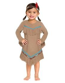 Indian Girl Costume Looks simple enough... Love how the bottom is triangle shaped and fringred- super easy to do! Indains can wear a poncho too (fringe that). Strips of Indian-styled patterned cloth (glue... NO SEW).