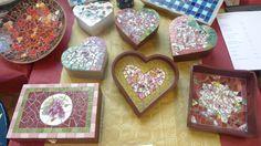 Mosaikkreationen - Mosaic creations Workshop, Burgundy, Hearts, Creative, Holiday, Mosaics, Atelier, Vacations, Work Shop Garage