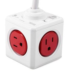 Everbuying Mobile offers high qualit 1 Piece Allocacoc US Plug PowerCube Power Socket 5 Outlets Extended Charger Adapter ( ) at wholesale price from China. Mobile Offers, Charger Adapter, Outlets, Power Strip, Cable, Amazon, House, Cabo, Amazons