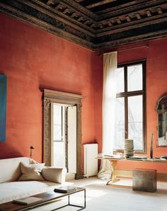 Currently coveting: coral-colored walls.