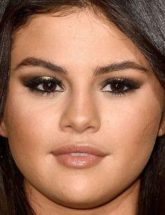 Close-up of Selena Gomez at the 2015 Vanity Fair Oscar party.