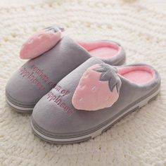 2d014788ce3 Winter Slippers Women Soft Bottom Fashion Cute Strawberry Home Slipper  Womens Simple Chic Warm Comfortable Non-slip Floor Shoes
