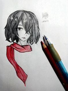 Mikasa Ackerman  By : Emily Nishimura (Me, Yui Ackerman)