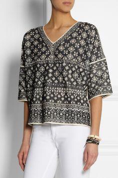 Étoile Isabel Marant|Bela intarsia cotton-blend top|NET-A-PORTER.COM $315, 80/20 cotton/nylon