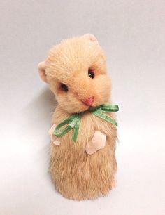 OOAK Marley - Faux Fur Hamster Artist Bear - Ready to Ship on Etsy, $42.96
