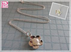 Beautiful Flower Clover Necklace by Pinx Jewelry by pinxjewelry, $20.00