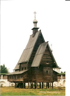 Russian Abandoned Wooden Church