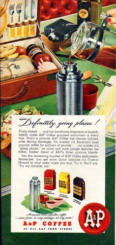 Coffee Advertising, Retro Advertising, Retro Ads, Vintage Ads, Vintage Posters, Vintage Food, Vintage Stores, Vintage Menu, Vintage Stuff