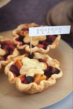 These bourbon peach pies from Pies, Pie Spot would make a wonderful choice for a cozy dessert.