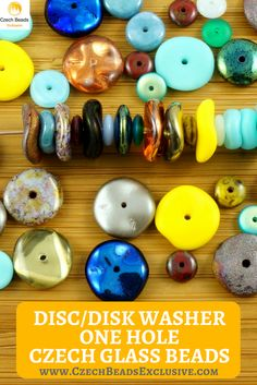 Czech Glass Disc/Disk Washer One Hole Beads  260 designs in stock! Sizes: 12/10/6/8mm - Buy now with discount!  Hurry up - sold out very fast! www.CzechBeadsExclusive.com/+disc SAVE them! #czechbeadsexclusive #czechbeadsdisc