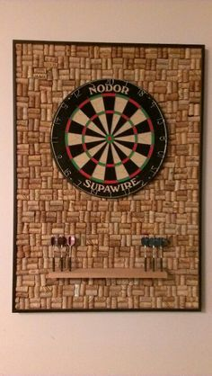 Diy Ideas, Darts Board, Cork Dart Board, Corks Darts, Dartboard Cabinets, Dart Boards, Dart Board Ideas, 406720 Pixel, Dartboard Cork