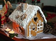 Christmas Gingerbread House, Gingerbread Cookies, Christmas Cookies, Gingerbread Houses, Ginger House, Food Cravings, Holiday Crafts, Winter Wonderland, I Foods