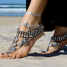 DESCRIPTION    Our Ancient Dance Barefoot Sandals are for twinkling your toes in the sand and feeling exquisite with every step you take.    Worn