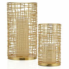 Thinking I might want to use these for pendant shades in the dining room ceiling light makeover: Labyrinth Hurricane | Harvest | Accessories | Decor | Z Gallerie