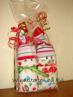 Windelbabys 'Little Monkey', Mitbringsel zur Geburt von Windeltorten By Evi auf DaWanda.com
