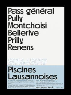 Piscines Lausannoises—Pass général Poster F4 + Chlore Display Medium Nizar Kazan
