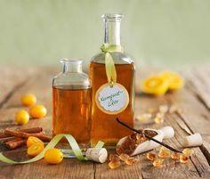 Kumquat-Likör mit Vanille und Zimt