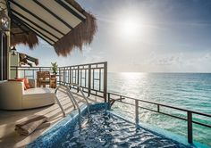 The First Luxury Overwater Bungalows in Mexico is The Palafitos at El Dorado Maroma. This Adults-Only Luxury Resort in Playa del Carmen, Riviera Maya. Bungalow Hotel, Bungalow Resorts, Riviera Maya, Best All Inclusive Resorts, Hotels And Resorts, Luxury Hotels, Luxury Travel, Family Resorts, Overwater Bungalows