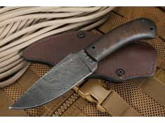 Exclusive Winkler Knives Maple and Ladder Damascus Woodsman
