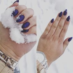 #beautiful #nails #winter #blue #simple