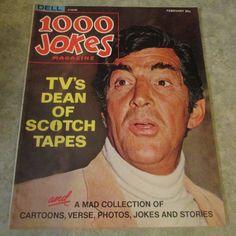 1000 Jokes Magazine - 1967 Dean Martin Photo Cover Dean Martin, Gorgeous Men, Jokes, Hollywood, Singer, Magazine, Sayings, Husky Jokes, Lyrics