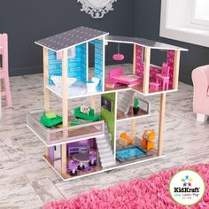 Kidkraft - Maison de poupées Contemporaine - Achat / Vente ACCESSOIRE POUPEE Maison Contemporaine - Cdiscount Cadeaux de Noël