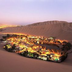 Mirage or Real? Location: The Oasis Town of Huacachina - Ica, Peru. Photo Credit: @dmitrysaparov