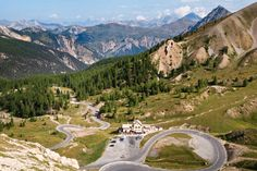 The Route des grandes Alpes, from Nice on the Mediterranean to Lake Geneva in Switzerland... 16 mountain passes and 425 miles. Many of the passes are only open from June to October. Some passes are open all year round: Gets, Aravis, Saisies, Télégraphe, Lautaret, Vars, Couyolle, Saint-Martin, Turini and Castillon.