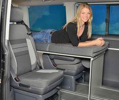 vanessa sleepingsystems for you camper Van Minivan Camping, Camping Box, Camping Storage, Truck Camping, T3 Camper, Mini Camper, Camper Van, Van Conversion Layout, Minivan Camper Conversion