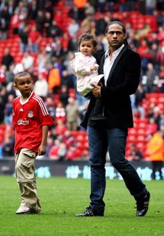 Liverpool's Glen Johnson and his kids who we don't know much about because he's uber-private.